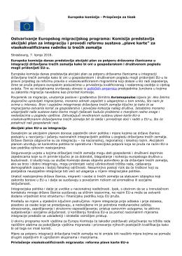Komisija predstavlja akcijski plan za integraciju i