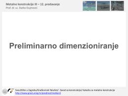 Preliminarno dimenzioniranje - Građevinski fakultet