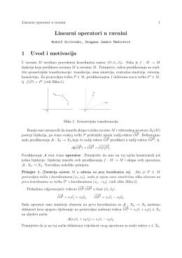 Linearni operatori u ravnini