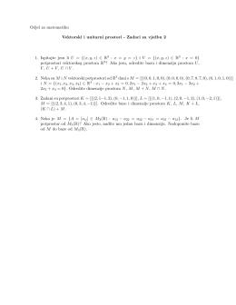 Odjel za matematiku Vektorski i unitarni prostori