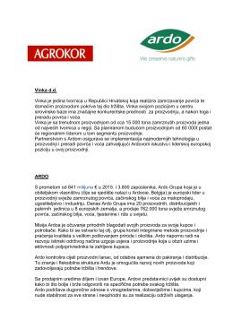 Informacije o kompanijama Vinka i Ardo