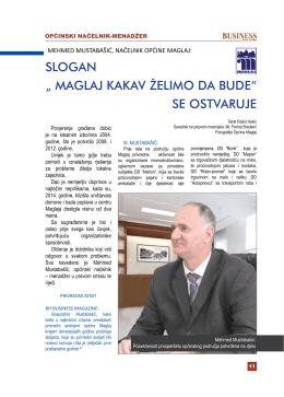 intervju – mehmed mustabasic, nacelnik opcine maglaj