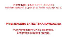 primijenjena satelitska navigacija