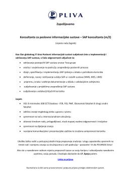 SAP konzultanta (m/ž)