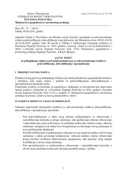 1 Bosna i Hercegovina FEDERACIJA BOSNE I HERCEGOVINE
