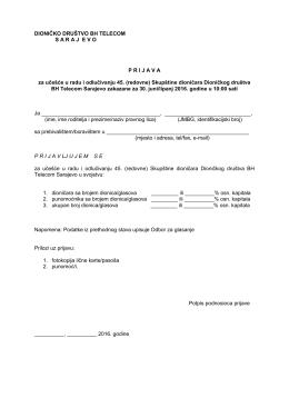 Prijava - BH Telecom