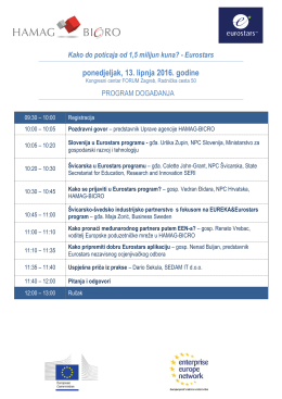 Program - HAMAG BICRO