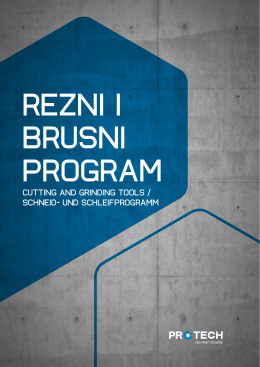 Rezni i brusni program