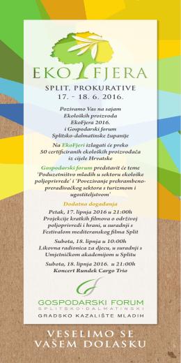 Pozivnica EkoFjera i program Gospodarskog foruma