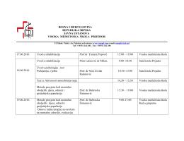 17.06.2016 Uvod u rehabilitaciju Prof dr Tamara Popović 15:00 – 19