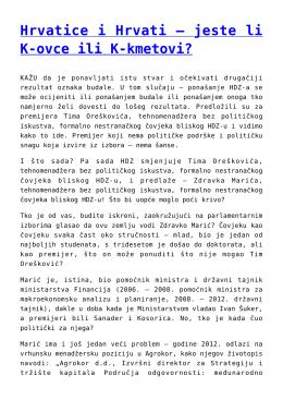 Hrvatice i Hrvati – jeste li K-ovce ili K-kmetovi?