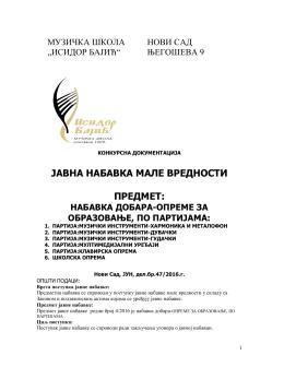 2. Konkursna dokumentacija