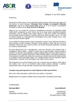 Pozivno pismo(učesnici) i Agenda(draft)