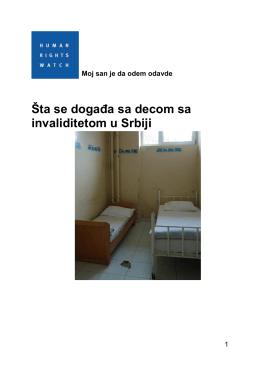 Šta se događa sa decom sa invaliditetom u Srbiji