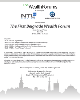 Pozivnica_First Belgrade Wealth Forum