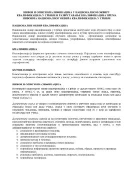 Нивои квалификација – НОКС