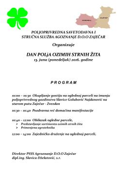 ovde - Poljoprivredna Savetodavna i Stručna Služba Srbije