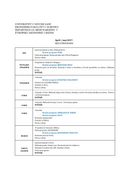 Program 2017. - Ekonomski fakultet u Subotici