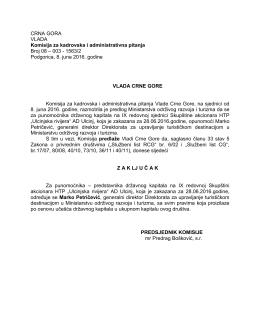 predstavnika državnog kapitala na IX redovnoj