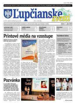 printové média na vzostupe výsledková listina