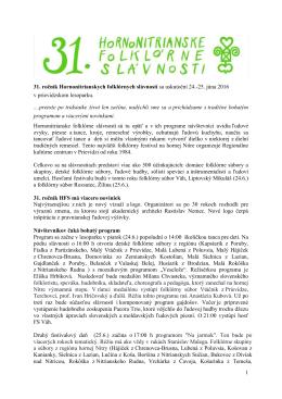 Pozvánka + program - Diviacka Nová Ves