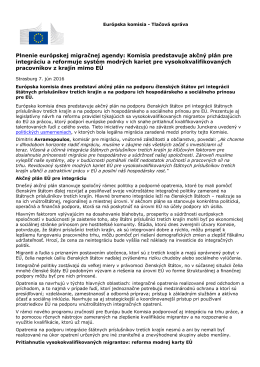 Plnenie európskej migračnej agendy: Komisia