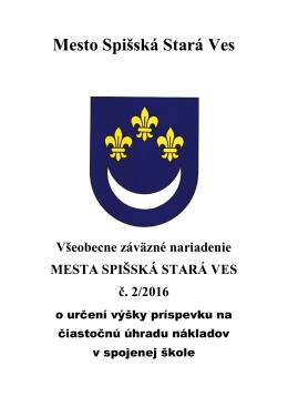 Návrh VZN č. 2/2016 o určení výšky príspevku na čiastočnú úhradu