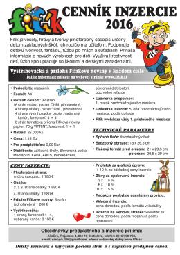 cenník - Fifík.sk