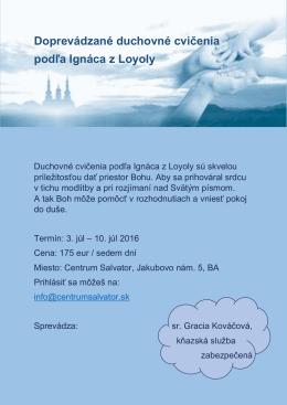 Doprevádzané duchovné cvičenia podľa Ignáca z Loyoly