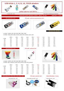 Plnofarebná potlač USB kľúčov od 100 ks - zdarma