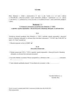 NÁVRH - Klokočov