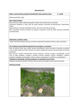 Ochrana prírody v obci