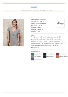 Dámske tričko Lisa V-neck Číslo výrobku: 184.05 Značka: Stars by