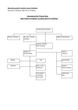Organizačná štruktúra MsPS - Mestský podnik služieb mesta Strážske