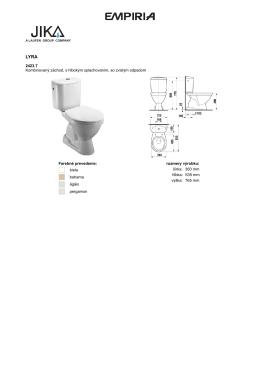 2423.7 Kombinovaný záchod, s hlbokým splachovaním, so