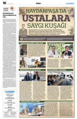 haydarpaşa`da - gazete kadıköy