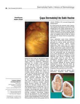 Çapa Dermatoloji`de Saklı Hazine