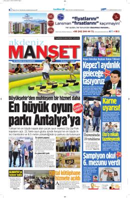 Kepez`i aydınlık geleceğe taşıyoruz - Antalya Haber