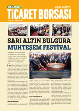 mayıs 2016 faaliyet - Gaziantep Ticaret Borsası