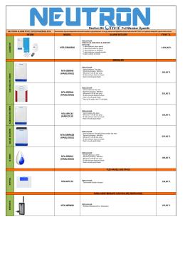 Neutron Alarm Sistemleri Haziran 2016 Fiyat Listesi