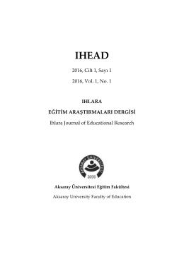PDF İndir - ıhlara eğitim araştırmaları dergisi