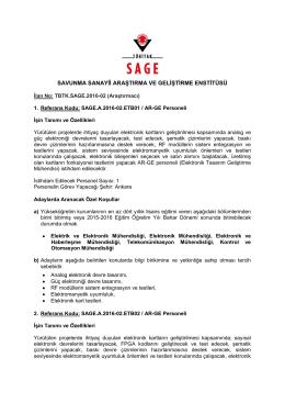 Yazışma Formatı - Parafsız - Savunma Sanayii Araştırma ve