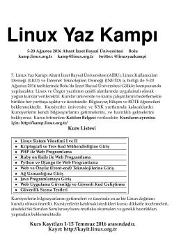 Linux Yaz Kampı