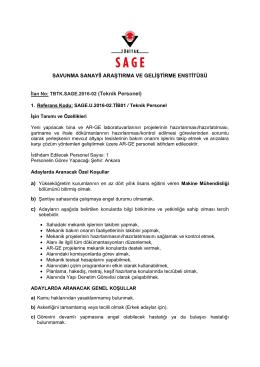 SAGE - Savunma Sanayii Araştırma ve Geliştirme Enstitüsü
