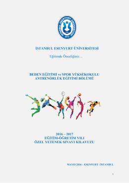 Sınav Kılavuzu için tıklayınız - İstanbul Esenyurt Üniversitesi