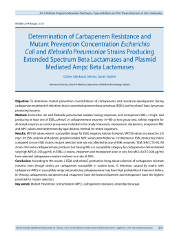Determination of Carbapenem Resistance and Mutant