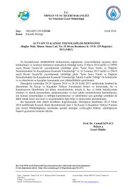 Orman ve Su İşleri Bakanlığı Su Yönetimi Genel Müdürü Prof. Dr