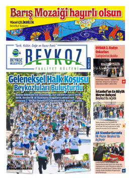 Beykoz Belediyesi Mayıs Ayı Bülteni