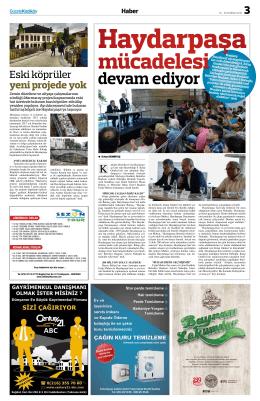 devam ediyor - gazete kadıköy
