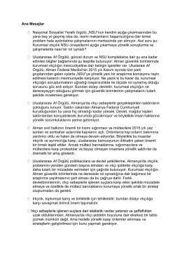 """Ana Mesajlar Nasyonal Sosyalist Yeraltı örgütü """"NSU""""nun kendini"""